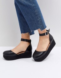 ASOS TABBI Flatform Shoes - Black