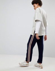 ASOS Tailored Jogger with Side Stripe Panel - Navy