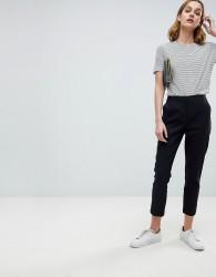 ASOS Tailored Linen Cigarette Trousers - Black