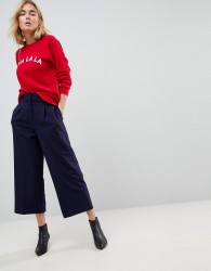 ASOS Tailored Minimal Culottes - Navy