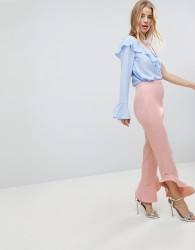 ASOS Tailored Soft Fluted Slim Trouser - Pink