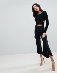 ASOS Tailored Soft Fluted Trouser - Black