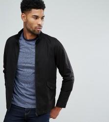 ASOS TALL Harrington Jacket With Funnel Neck In Black - Black