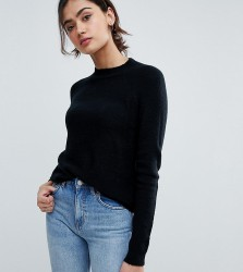 ASOS TALL Jumper In Fluffy Yarn With Crew Neck - Black