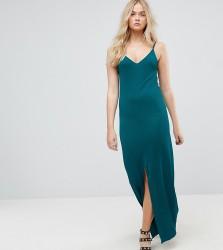 ASOS TALL Maxi Dress With V Back - Green