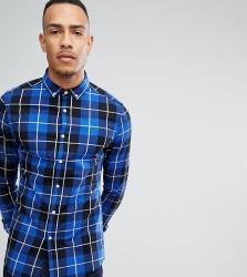 ASOS TALL Skinny Check Shirt - Blue
