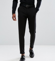 ASOS TALL Skinny Cropped Smart Trousers In Black - Black