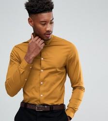 ASOS TALL Skinny Shirt In Mustard - Yellow