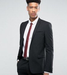 ASOS TALL Skinny Suit Jacket In Black - Black