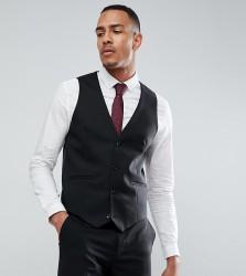 ASOS TALL Skinny Suit Waistcoat In Black - Black