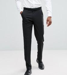 ASOS TALL Slim Smart Trousers In Black - Black