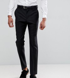 ASOS TALL Slim Suit Trousers In Black 100% Wool - Black