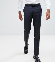 ASOS TALL Slim Suit Trousers In Navy 100% Wool - Navy