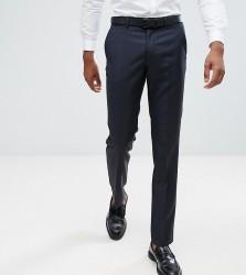 ASOS TALL Slim Suit Trousers In Navy 100% Wool - Navy