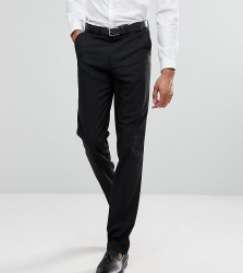 ASOS TALL Slim Tuxedo Suit Trousers In Black - Black