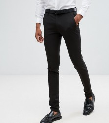 ASOS TALL Super Skinny Fit Suit Trousers In Black - Black