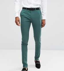 ASOS TALL Super Skinny Fit Suit Trousers In Peacock Green - Green