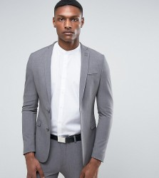 ASOS TALL Super Skinny Suit Jacket In Grey - Grey