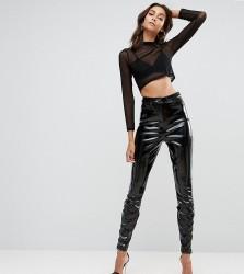 ASOS TALL Vinyl Skinny Trouser - Black