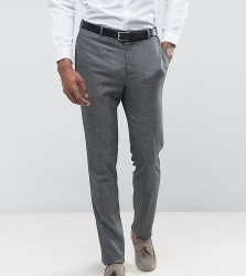 ASOS TALL WEDDING Skinny Suit Trouser in Slate Grey Woven Texture - Grey
