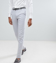 ASOS TALL Wedding Skinny Suit Trousers In Ice Grey - Grey