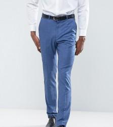 ASOS TALL Wedding Slim Suit Trouser in Blue Tonic - Blue
