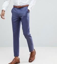 ASOS TALL WEDDING Slim Suit Trousers In Deep Blue 100% Merino Wool - Blue