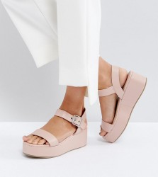 ASOS TOUCAN Wedge Sandals - Beige