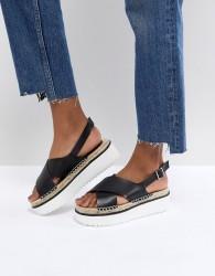 ASOS TYSON Flatform Sandals - Black