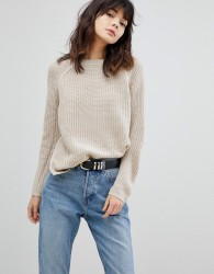 ASOS Ultimate Chunky Jumper With Crew Neck - Beige