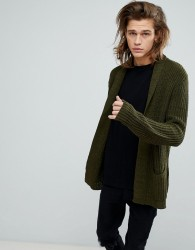ASOS Ultimate Knitted Cardigan In Khaki - Green