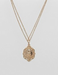 ASOS Vintage Style Lucky Locket Necklace - Gold