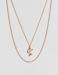 ASOS Vintage Style Nefertiti Multirow Necklace - Gold