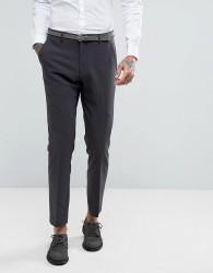 ASOS WEDDING Skinny Suit Trouser In Charcoal - Black