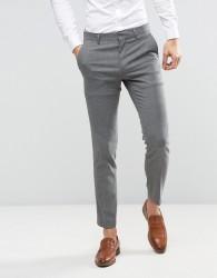 ASOS WEDDING Skinny Suit Trouser In Grey Micro Texture - Grey
