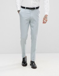 ASOS Wedding Skinny Tuxedo Suit Trousers In Ice Blue - Blue