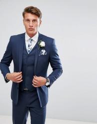 ASOS Wedding Slim Suit Jacket In Mid Blue - Blue
