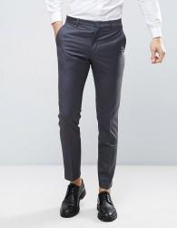 ASOS WEDDING Slim Suit Trouser 100% Wool In Charcoal - Grey