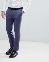 ASOS WEDDING Slim Suit Trousers in Deep Blue 100% Merino Wool - Blue