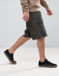 ASOS Wide Cord Shorts in Khaki - Green