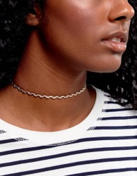 ASOS Woven Chain Choker Necklace - Gold