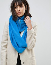 ASOS Woven Snood With Zip and Ring Pull - Blue