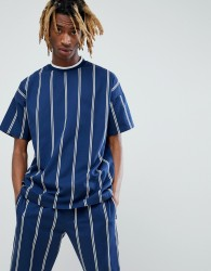 ASOS x Unknown London T-Shirt In Stripe - Navy