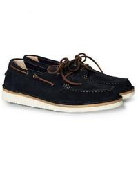 Astorflex Boatflex Suede Shoe Navy men 43 Blå