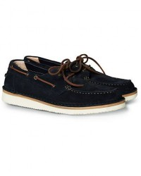 Astorflex Boatflex Suede Shoe Navy men 44 Blå