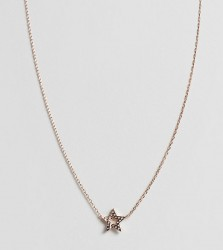 Astrid & Miyu 18K rose gold plated diamante star necklace - Gold