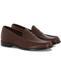 Aurlands Penny Loafer Dark Brown Calf men 40 Brun