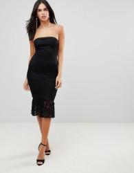 AX Paris Bandeau Pephem Lace Dress - Black