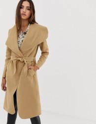 AX Paris belted oversized coat - Brown