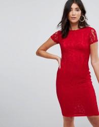 AX Paris Crochet Lace Midi Dress - Red